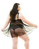 Plus size woman in lingerie tunic - 248615245