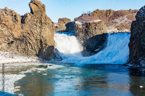 Hjalparfoss Wasserfall in Süd-Island - 248618054