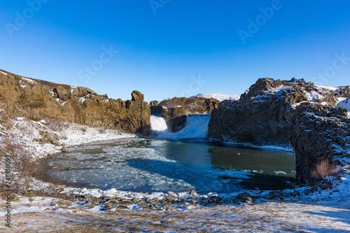 Hjalparfoss Wasserfall in Süd-Island - 248618093