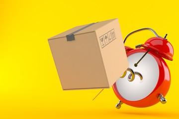 Alarm clock with cardboard box