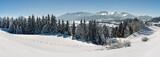 Panorama Landschaft in Bayern bei Füssen im Winter