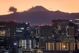 東京湾から見る富士山の夕焼け2