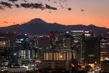 東京湾から見る富士山の夕焼け1