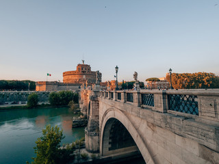 Castel Sant'Angelo in Rome, italy on a sunny day © florianreichelt