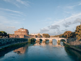 Castel Sant'Angelo in Rome, italy on a sunny day
