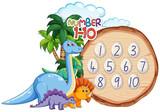 Number to ten dinosaur theme