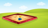 A sandpit in playground - 248635221