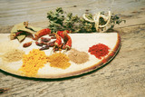 Mix of indian delicious indian spices - 248635812
