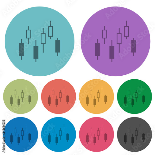 Candlestick Chart Color Darker Flat Icons Buy Photos Ap Images