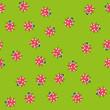 Seamless pattern with Kawaii ladybugs. Vector. - 248638817
