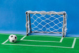 Toy football field and gate - 248644492