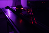 Experiment with red laser in optics lab - 248647646
