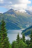 High tauern alps mountains at Durlassboden Lake in Austria.