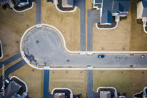 Abstract Aerial of Kendall Park New Jersey - 248660464