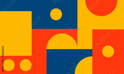 Retro geometric covers design. Colorful modernism. © Yeroma