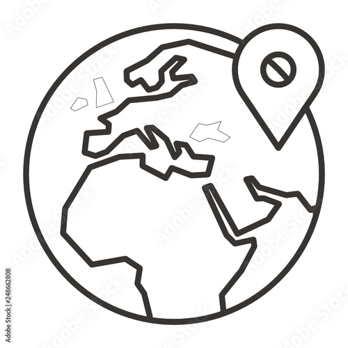 Marker Location Pin Map Globe