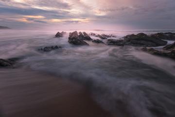Sunset from Bidart's beach next to Biarritz at the North Basque Country. © Jorge Argazkiak