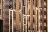 Close up of skyscrapers in Dubai, UAE - 248667474
