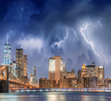 New York City with thunderstorm approaching - Manhattan skyline - 248671016