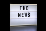 The News, phrase written on lightbox