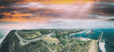 Dana Point at sunset, California aerial view - 248678255