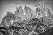 Quadro Dolomites huge mountain, Italian Alps