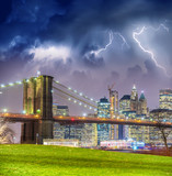 New York City with thunderstorm approaching - Manhattan skyline - 248679684