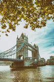River Thames and Tower Bridge on a autumn day, London - 248679836