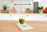 Matcha green tea in glass cup - 248686268