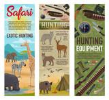 Hunting African safari, hunter ammo and animals
