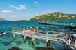 View at beautiful pier that located on one of the Thailand islands.