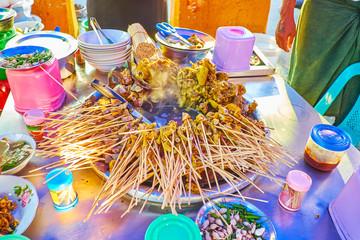 Pork offal in sauce, Yangon, Myanmar
