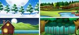 Set of nature landscape - 248691602