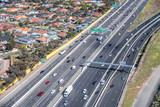Aerial view of australian interstate