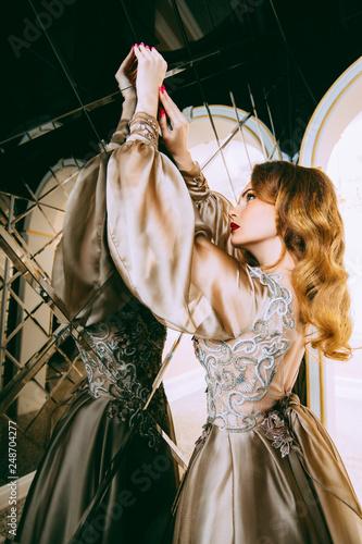 Leinwandbild Motiv stylish woman in dress