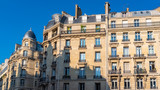 Paris, ancient buildings, typical facades in the center
