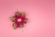 strawberry teamwork on pink background - 248716692