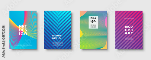 Abstract modern background. Geometric shapes and lines. Colorful neon gradient. Eps10 vector. - 248723248