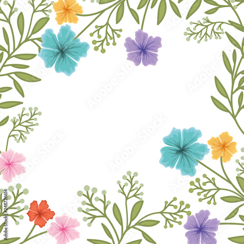 flowers pattern isolated icon - 248726614