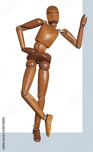 bois, mannequin, isolé, bois, figure, blanc, modèle, poser andouille, figurine, corps, art, asseoir, poupée, jouet, personne, brun, statue, gens, souvenir, objet - 248736884
