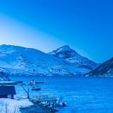 Blue hour on the Norwegian fjords