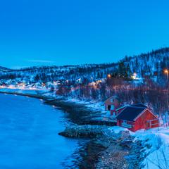 Blue hour on the Norwegian fjords © Ludo