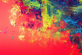 colorful pattern background made on paper with tempera studio shot - 248750007
