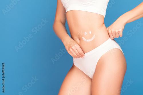 Leinwanddruck Bild Woman take care of skin.