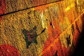 Colourful Graffiti Art on the backstreet walls in Granada,Andalucia,Spain.