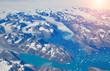 Leinwanddruck Bild - Aerial view of scenic Greenland Glaciers and icebergs