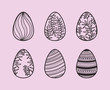 set of eggs painted easter icons