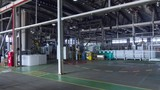 timelapse motion along warehouse with finished containers - 248779811