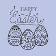 happy easter card with eggs painted