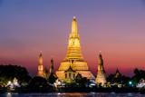 Beautiful photo of Wat Pho Temple, Bangkok City taken in thailand